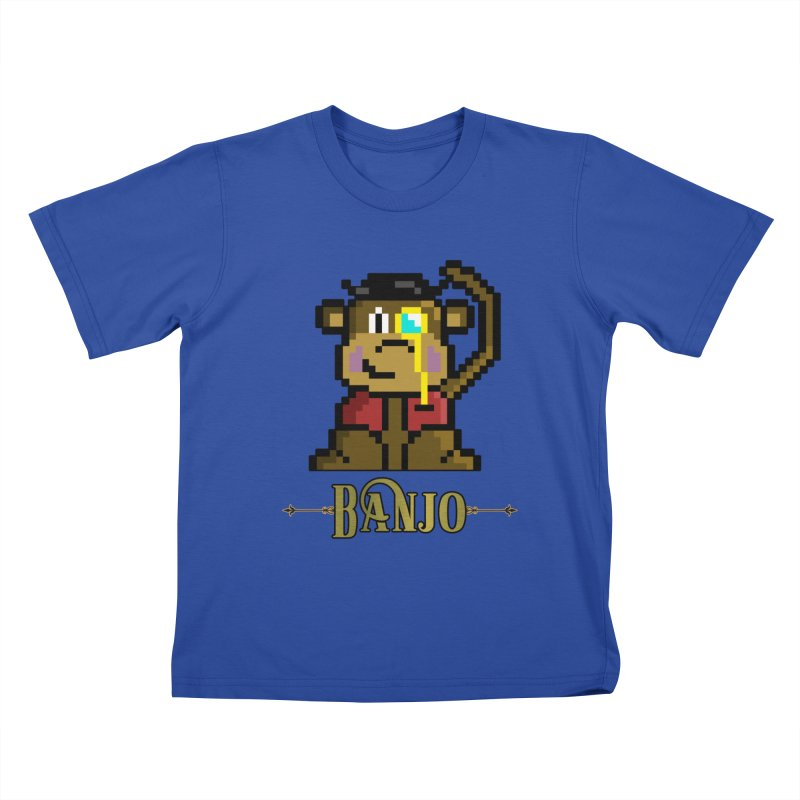 Banjo the Biosynthetic Monkey Kids T-Shirt by steamwhistlealley's Artist Shop