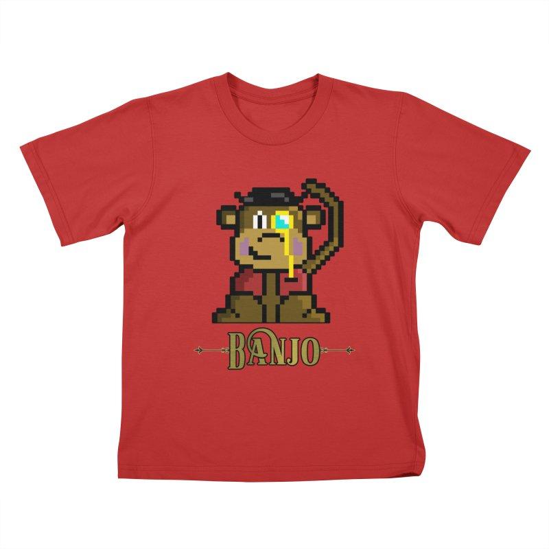 Banjo the Biosynthetic Monkey Kids T-Shirt by steamwhistlealley's Artist Shop
