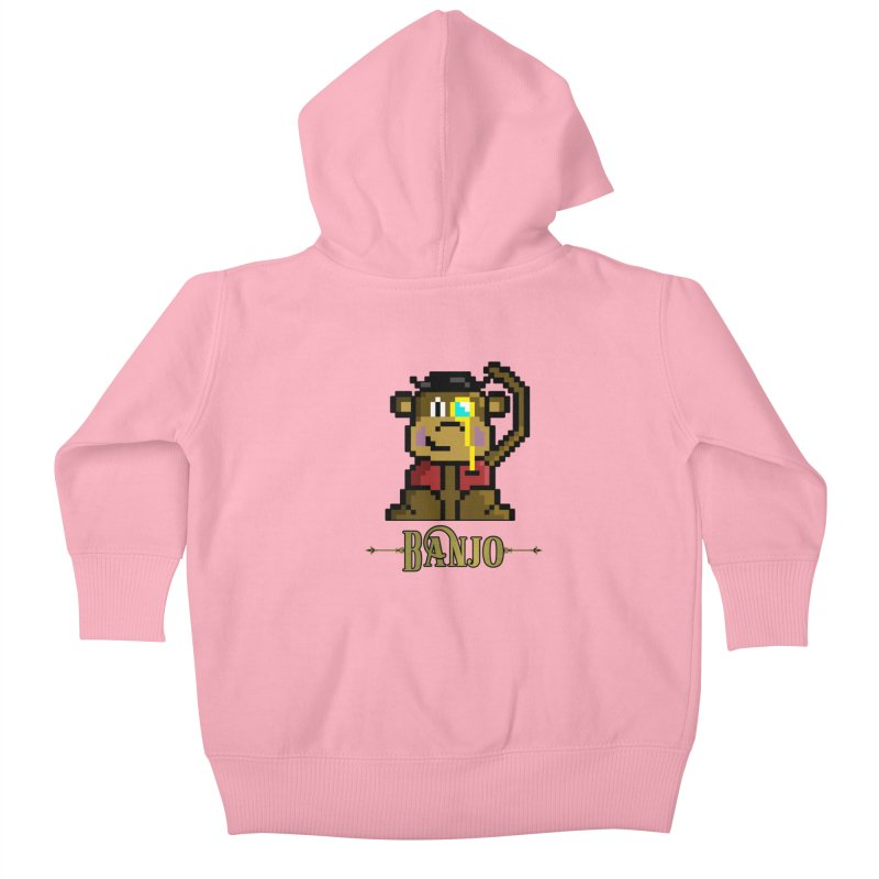 Banjo the Biosynthetic Monkey Kids Baby Zip-Up Hoody by steamwhistlealley's Artist Shop