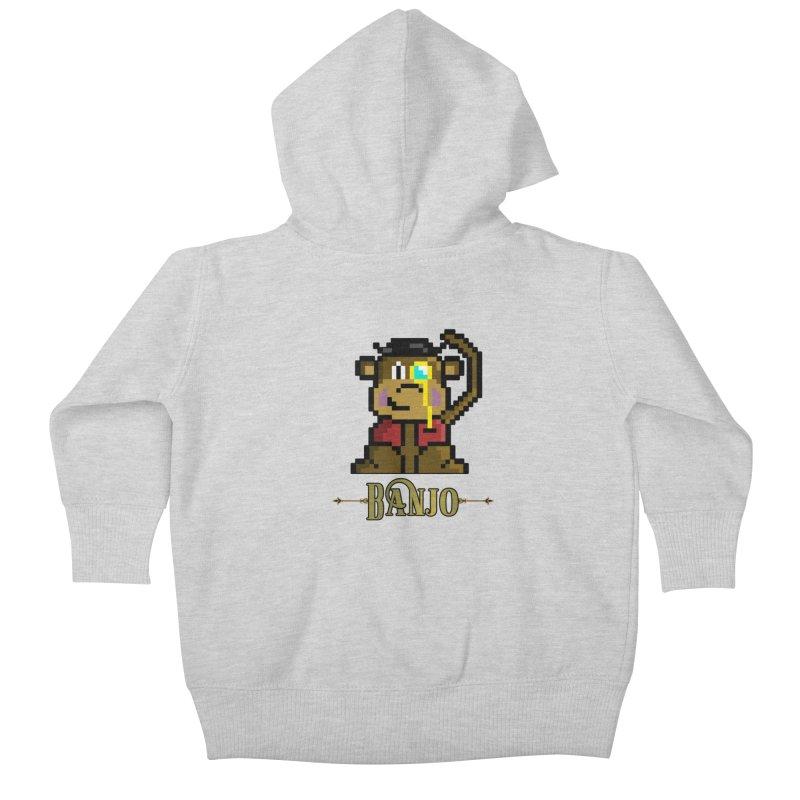 Banjo the Biosynthetic Monkey Kids Baby Zip-Up Hoody by steamwhistlealley's Artist Shop