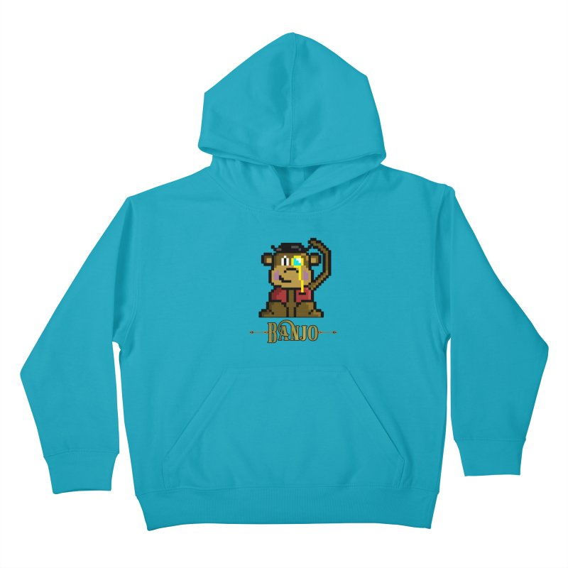 Banjo the Biosynthetic Monkey Kids Pullover Hoody by steamwhistlealley's Artist Shop