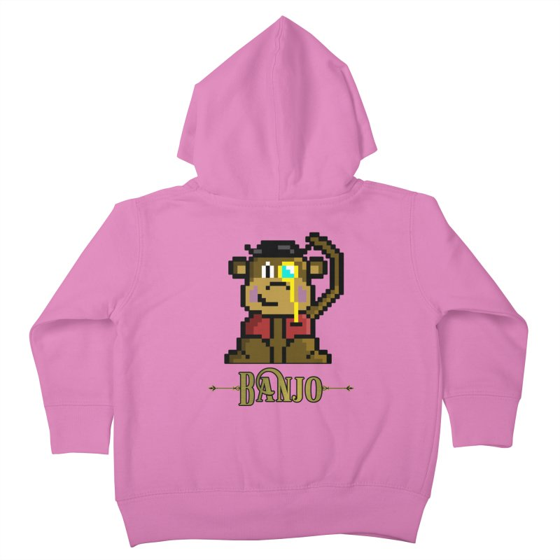 Banjo the Biosynthetic Monkey Kids Toddler Zip-Up Hoody by steamwhistlealley's Artist Shop