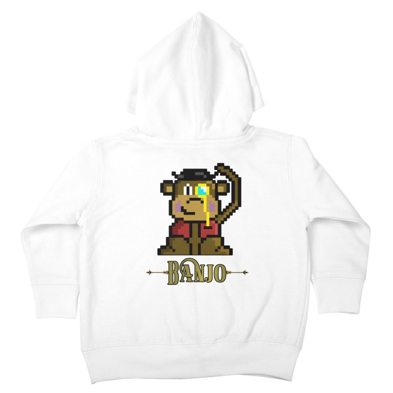Banjo the Biosynthetic Monkey Kids Toddler Zip-Up Hoody by steamwhistlealley's Artist Shop