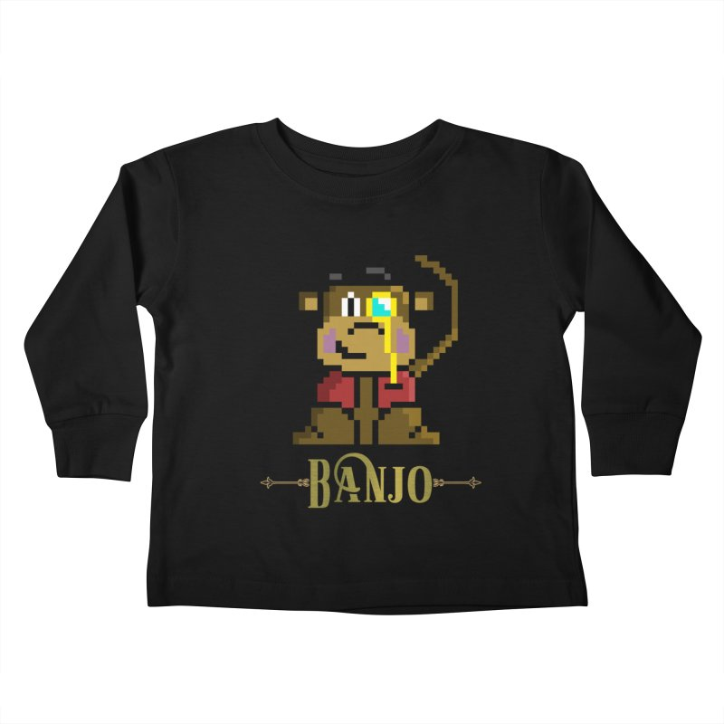 Banjo the Biosynthetic Monkey Kids Toddler Longsleeve T-Shirt by steamwhistlealley's Artist Shop