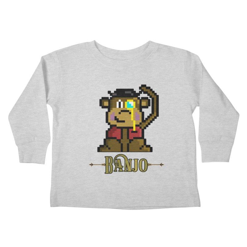 Banjo the Biosynthetic Monkey Kids Toddler Longsleeve T-Shirt by steamwhistlealley's Artist Shop