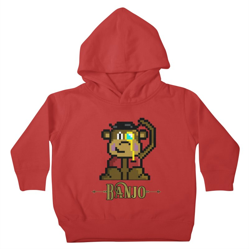 Banjo the Biosynthetic Monkey Kids Toddler Pullover Hoody by steamwhistlealley's Artist Shop