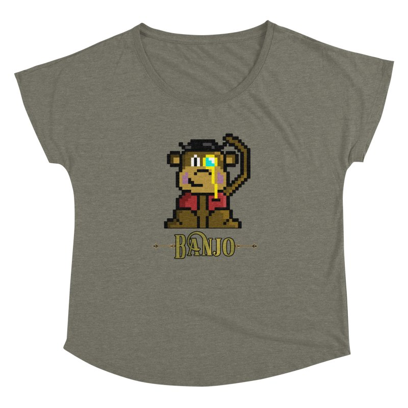 Banjo the Biosynthetic Monkey Women's Dolman Scoop Neck by steamwhistlealley's Artist Shop