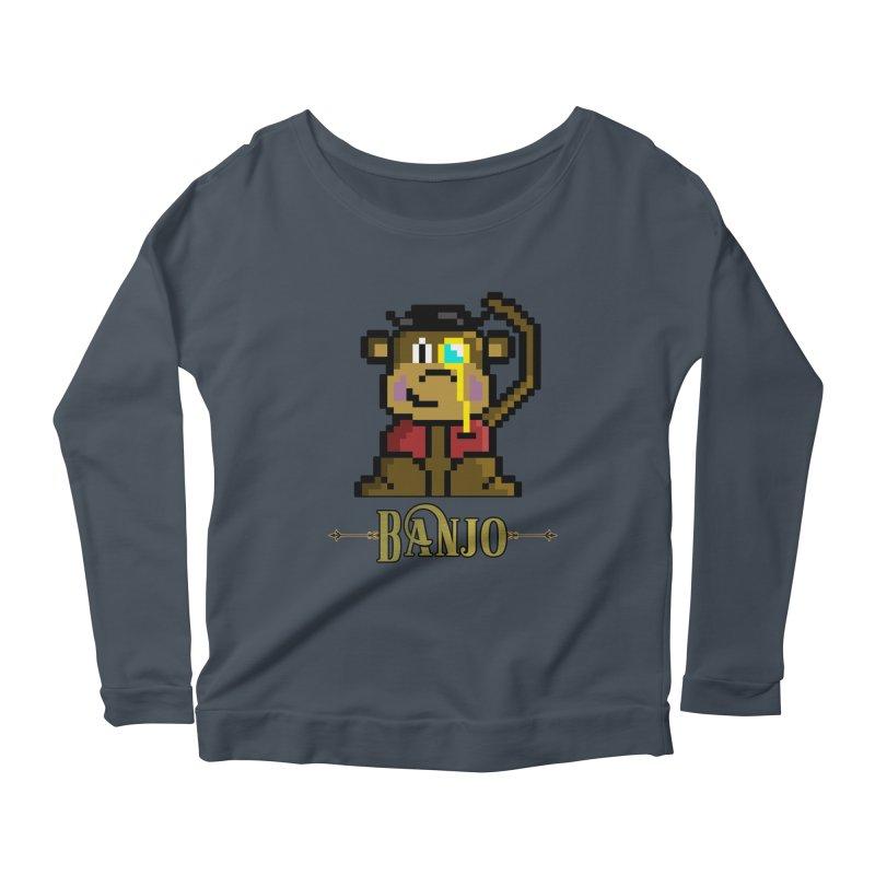 Banjo the Biosynthetic Monkey Women's Scoop Neck Longsleeve T-Shirt by steamwhistlealley's Artist Shop