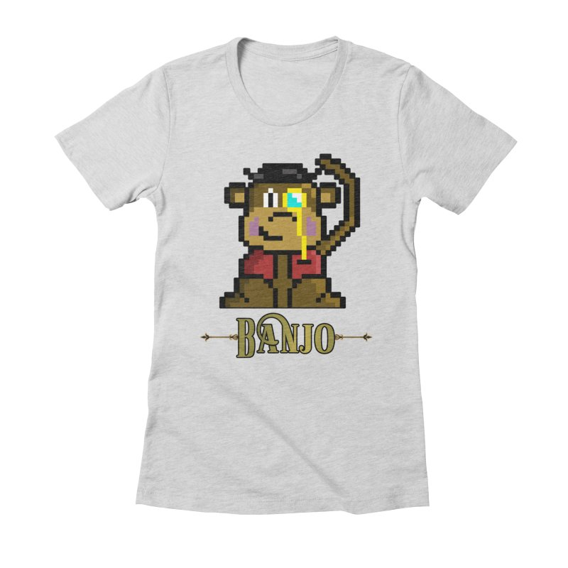 Banjo the Biosynthetic Monkey Women's Fitted T-Shirt by steamwhistlealley's Artist Shop