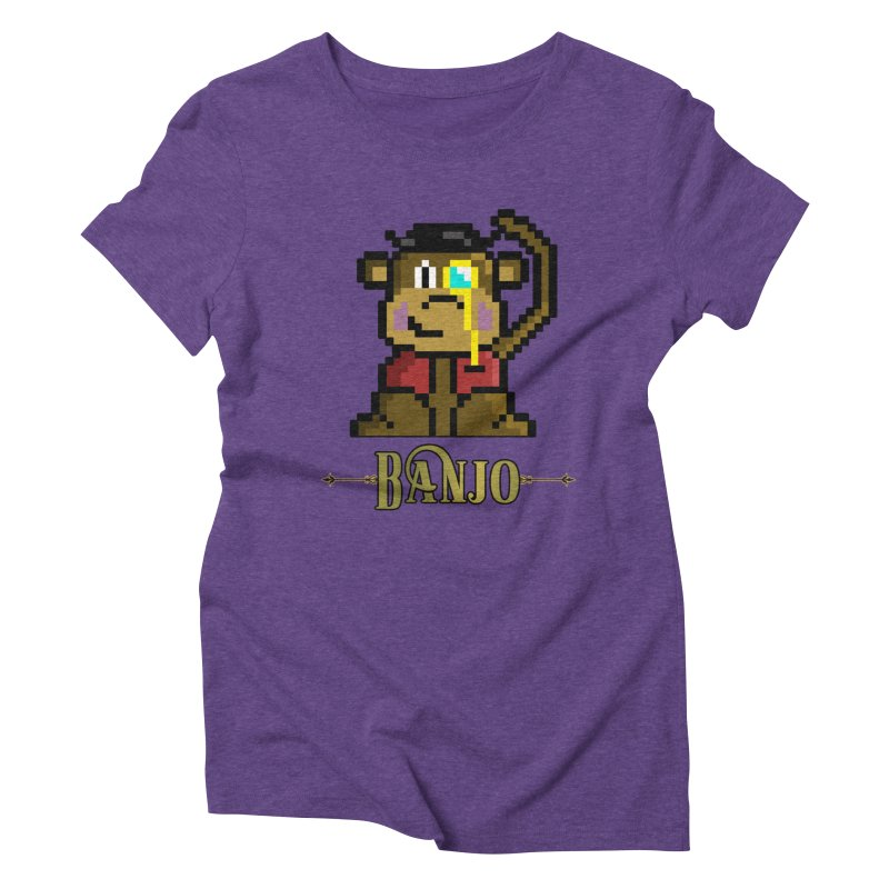 Banjo the Biosynthetic Monkey Women's Triblend T-Shirt by steamwhistlealley's Artist Shop