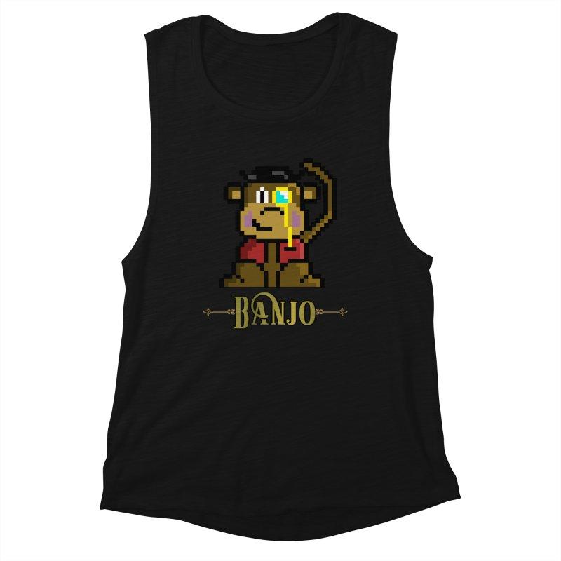 Banjo the Biosynthetic Monkey Women's Tank by steamwhistlealley's Artist Shop