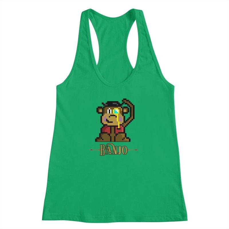 Banjo the Biosynthetic Monkey Women's Racerback Tank by steamwhistlealley's Artist Shop
