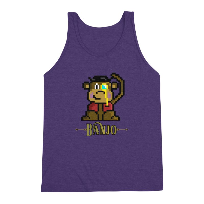 Banjo the Biosynthetic Monkey Men's Triblend Tank by steamwhistlealley's Artist Shop