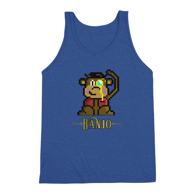 Banjo the Biosynthetic Monkey Men's Triblend Tank by steamwhistlealley's Artist Shop