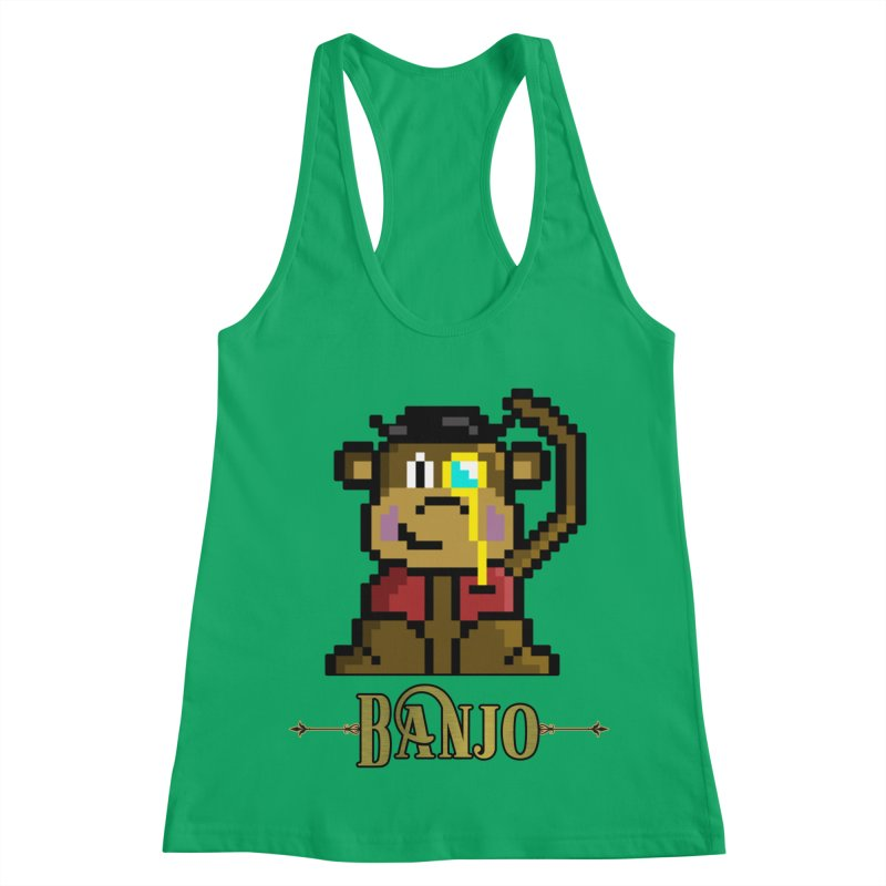 Banjo the Biosynthetic Monkey Women's Racerback Tank by steamwhistlealley's Artist Shop