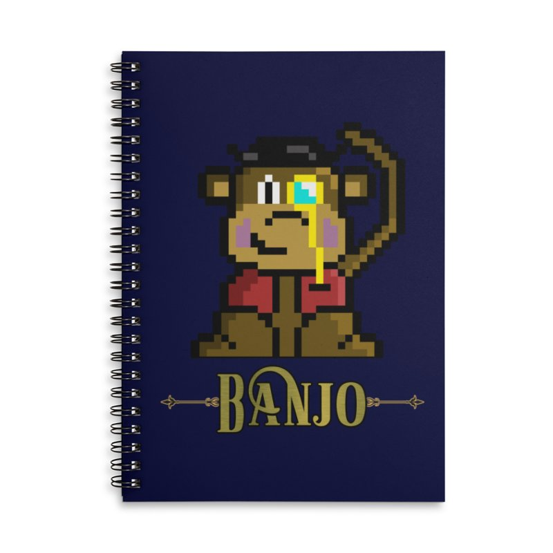 Banjo the Biosynthetic Monkey Accessories Lined Spiral Notebook by steamwhistlealley's Artist Shop