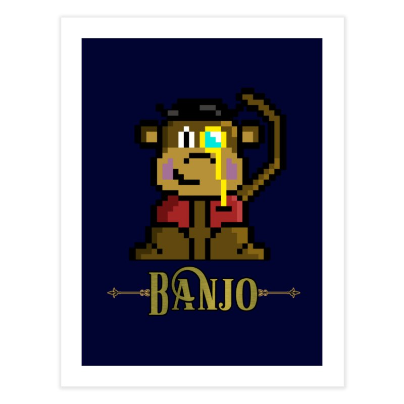 Banjo the Biosynthetic Monkey Home Fine Art Print by steamwhistlealley's Artist Shop