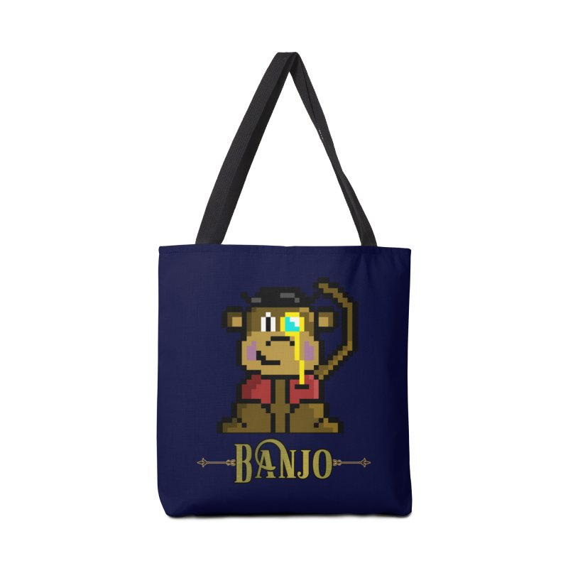 Banjo the Biosynthetic Monkey Accessories Tote Bag Bag by steamwhistlealley's Artist Shop