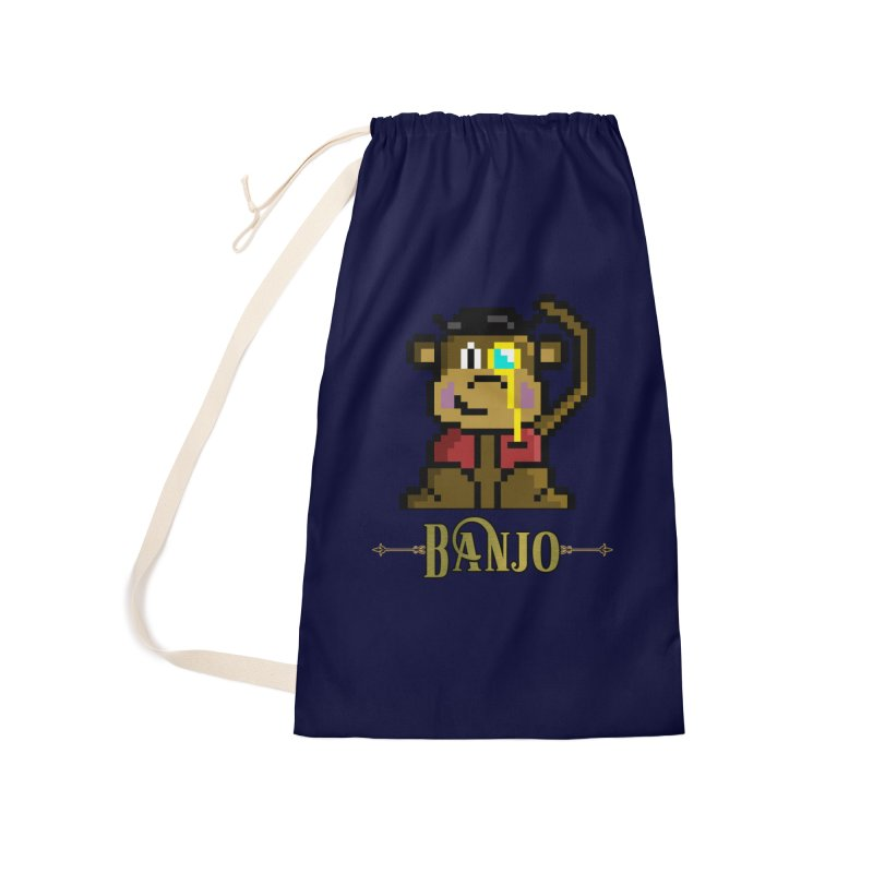 Banjo the Biosynthetic Monkey Accessories Laundry Bag Bag by steamwhistlealley's Artist Shop
