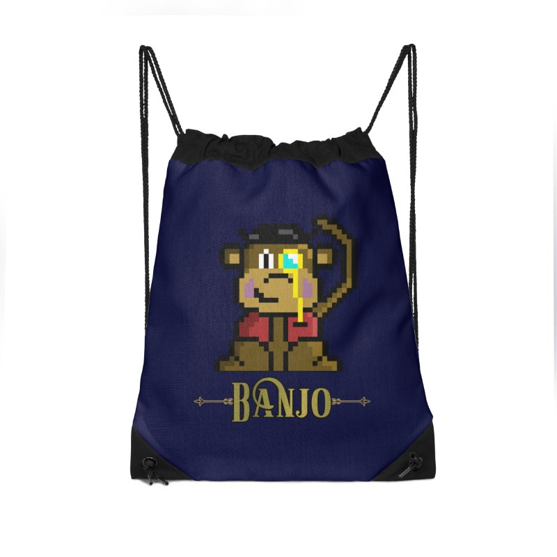 Banjo the Biosynthetic Monkey Accessories Drawstring Bag Bag by steamwhistlealley's Artist Shop