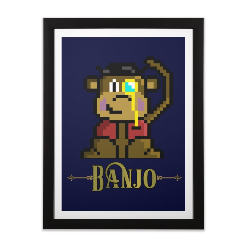 Banjo the Biosynthetic Monkey Home Framed Fine Art Print by steamwhistlealley's Artist Shop