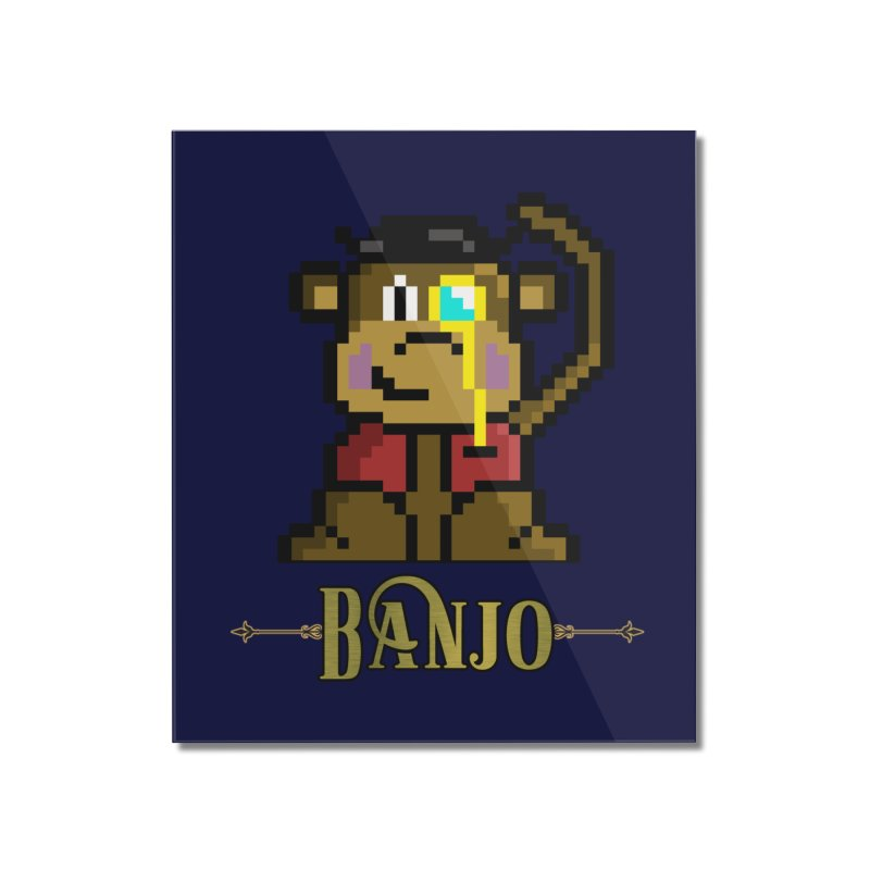 Banjo the Biosynthetic Monkey Home Mounted Acrylic Print by steamwhistlealley's Artist Shop