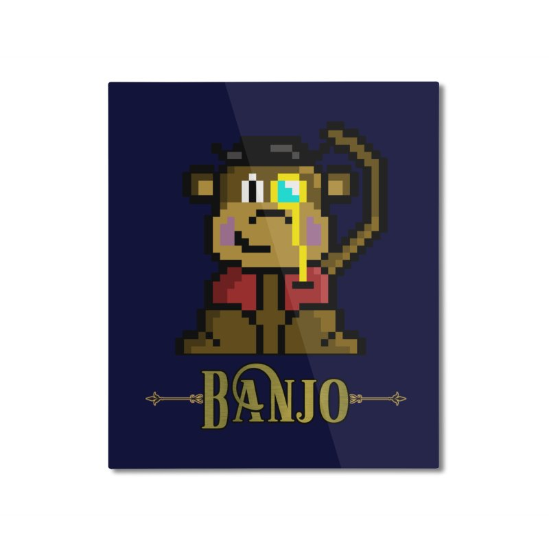 Banjo the Biosynthetic Monkey Home Mounted Aluminum Print by steamwhistlealley's Artist Shop