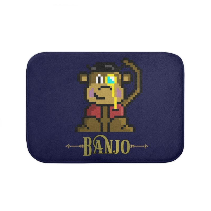Banjo the Biosynthetic Monkey Home Bath Mat by steamwhistlealley's Artist Shop