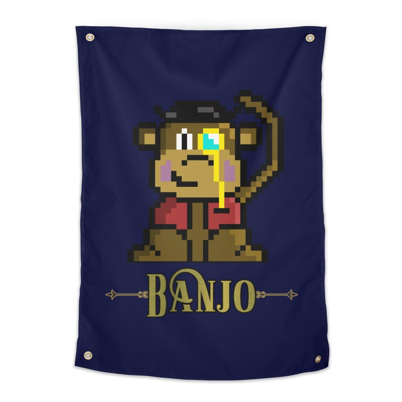 Banjo the Biosynthetic Monkey Home Tapestry by steamwhistlealley's Artist Shop