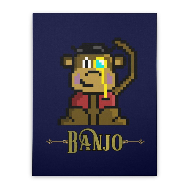 Banjo the Biosynthetic Monkey Home Stretched Canvas by steamwhistlealley's Artist Shop