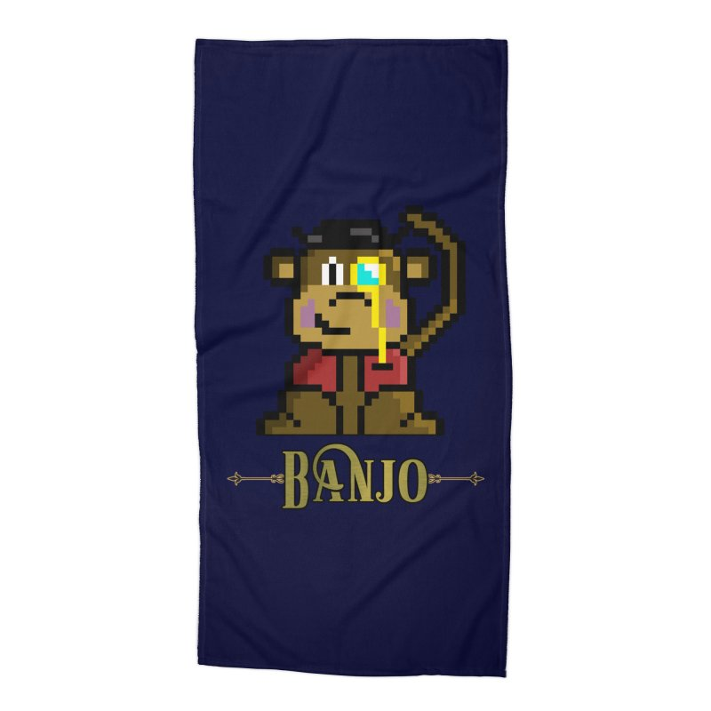 Banjo the Biosynthetic Monkey Accessories Beach Towel by steamwhistlealley's Artist Shop