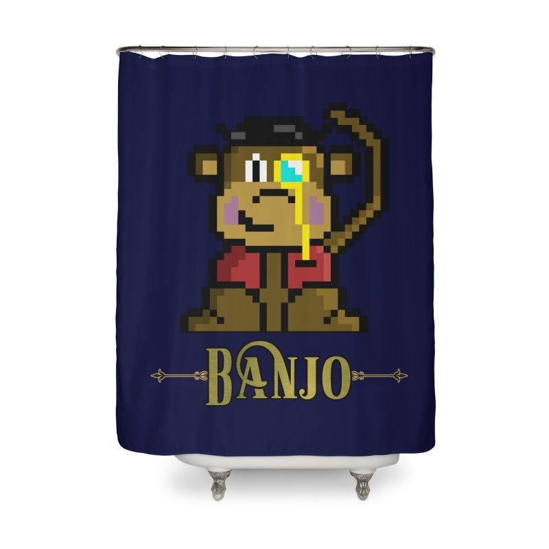 Banjo the Biosynthetic Monkey Home Shower Curtain by steamwhistlealley's Artist Shop