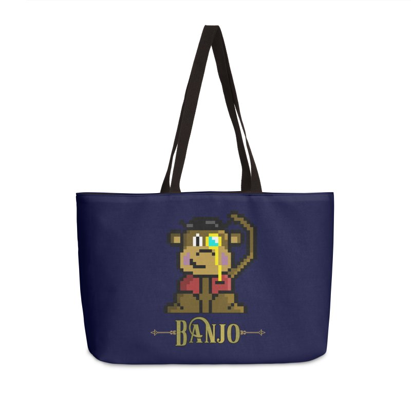 Banjo the Biosynthetic Monkey Accessories Weekender Bag Bag by steamwhistlealley's Artist Shop