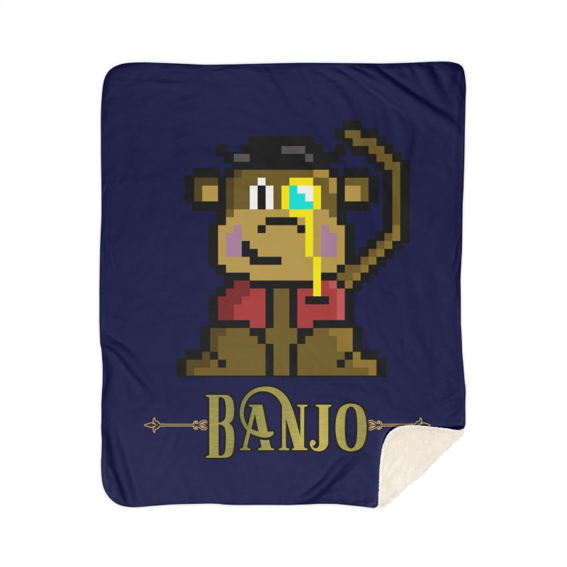 Banjo the Biosynthetic Monkey Home Blanket by steamwhistlealley's Artist Shop