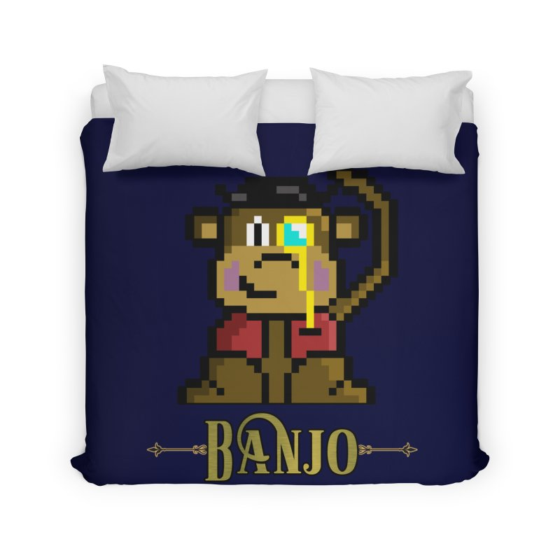 Banjo the Biosynthetic Monkey Home Duvet by steamwhistlealley's Artist Shop