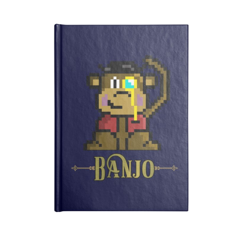 Banjo the Biosynthetic Monkey Accessories Lined Journal Notebook by steamwhistlealley's Artist Shop