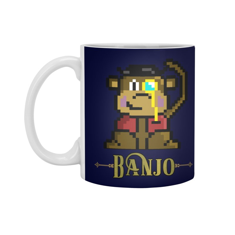 Banjo the Biosynthetic Monkey Accessories Standard Mug by steamwhistlealley's Artist Shop