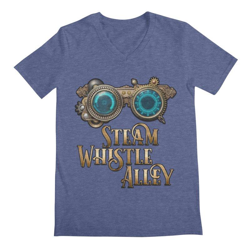 SWA Goggles Men's Regular V-Neck by steamwhistlealley's Artist Shop