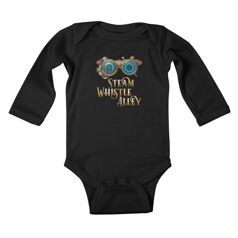 SWA Goggles Kids Baby Longsleeve Bodysuit by steamwhistlealley's Artist Shop