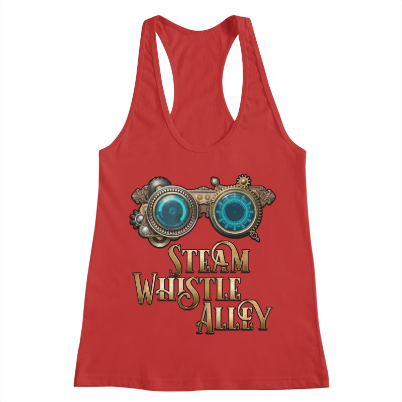 SWA Goggles Women's Racerback Tank by steamwhistlealley's Artist Shop