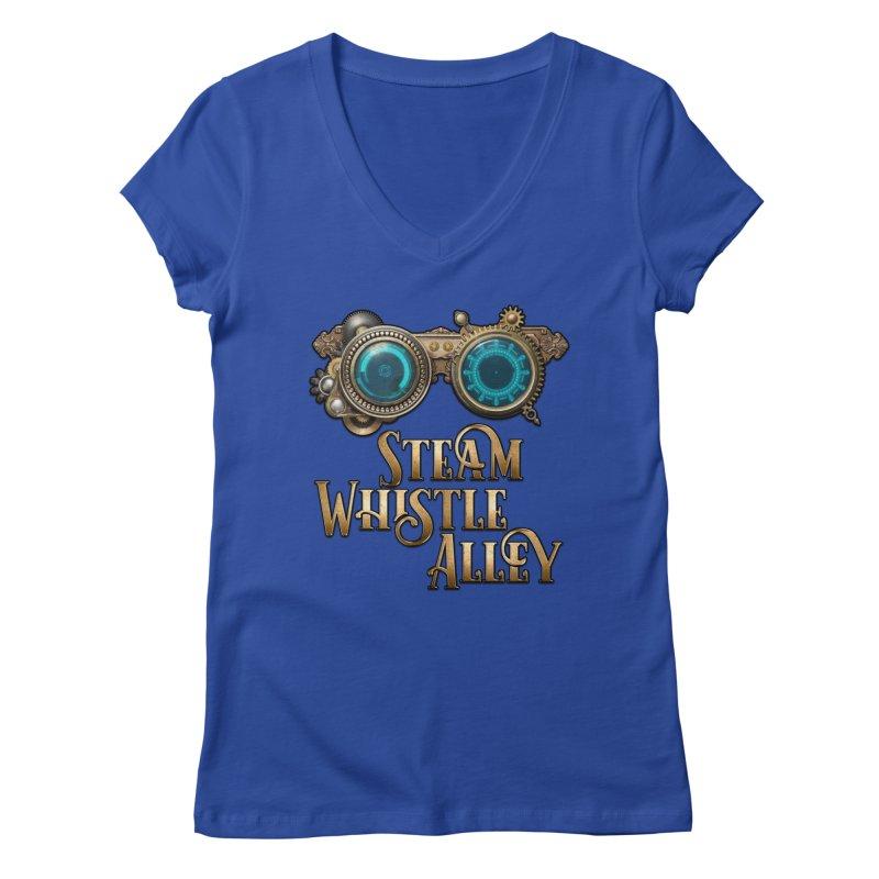 SWA Goggles Women's Regular V-Neck by steamwhistlealley's Artist Shop