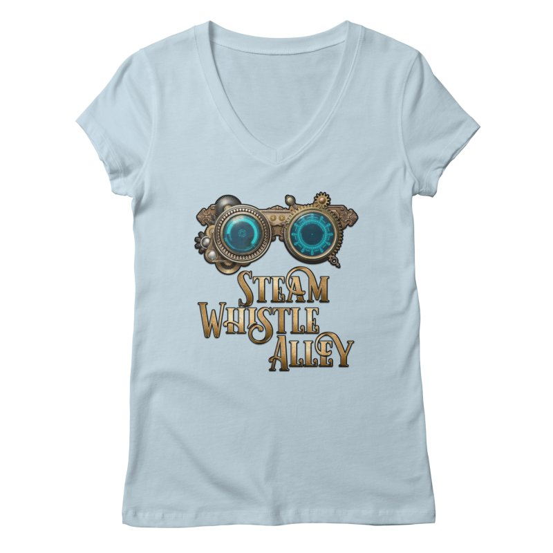 SWA Goggles Women's Regular V-Neck by steamwhistlealley's Artist Shop