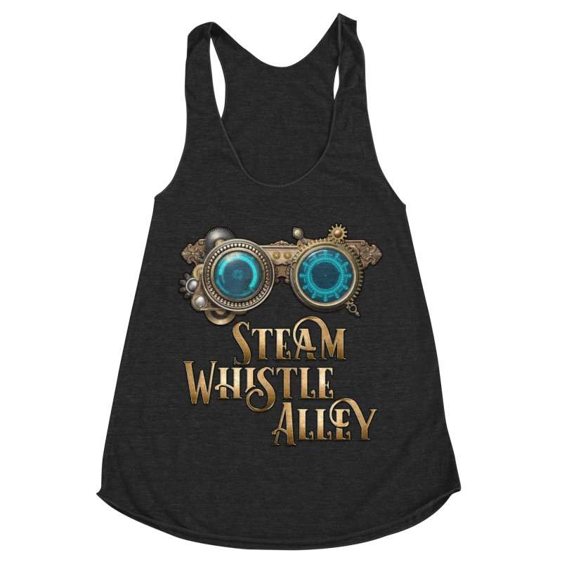 SWA Goggles Women's Racerback Triblend Tank by steamwhistlealley's Artist Shop