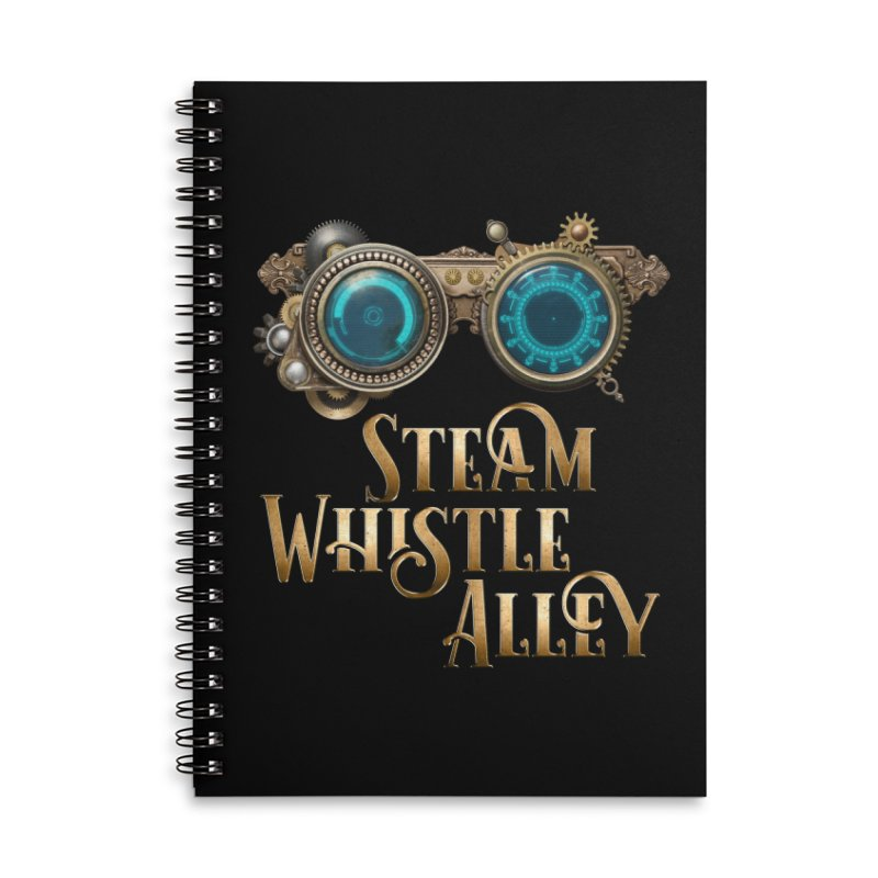 SWA Goggles Accessories Lined Spiral Notebook by steamwhistlealley's Artist Shop