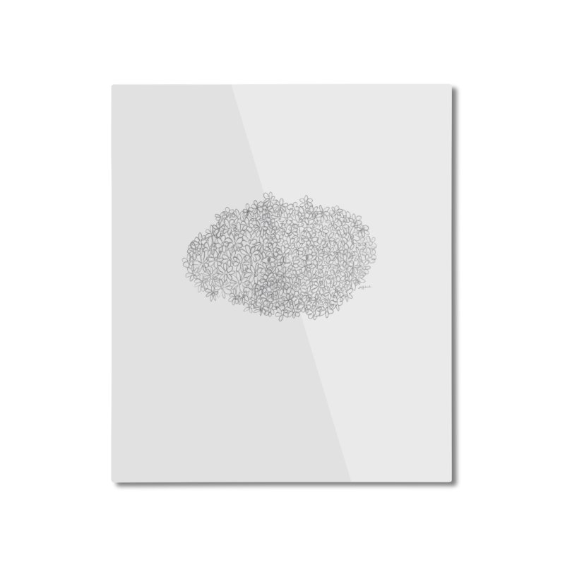 Eyes In A Bush Home Mounted Aluminum Print by Steff Bomb's Artist Shop