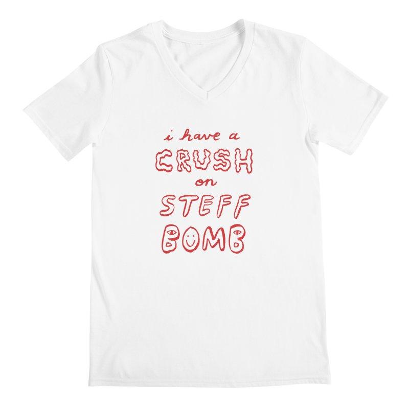 Crush Men's V-Neck by Steff Bomb's Artist Shop
