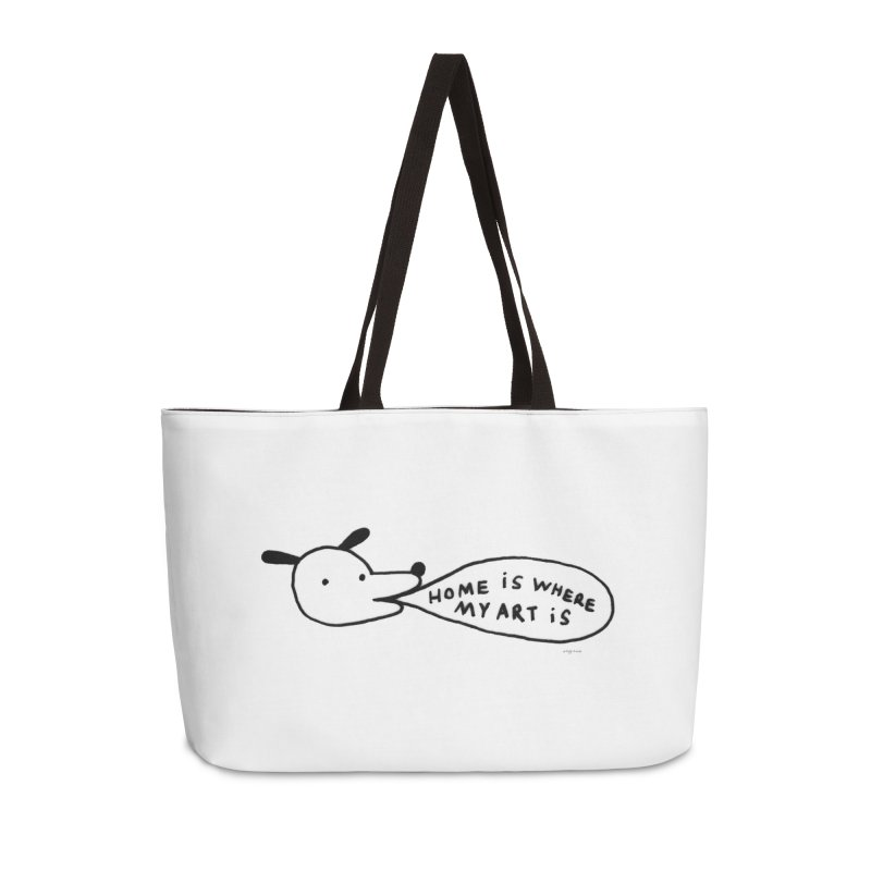 Home Is Where My Art Is Accessories Bag by Steff Bomb's Artist Shop