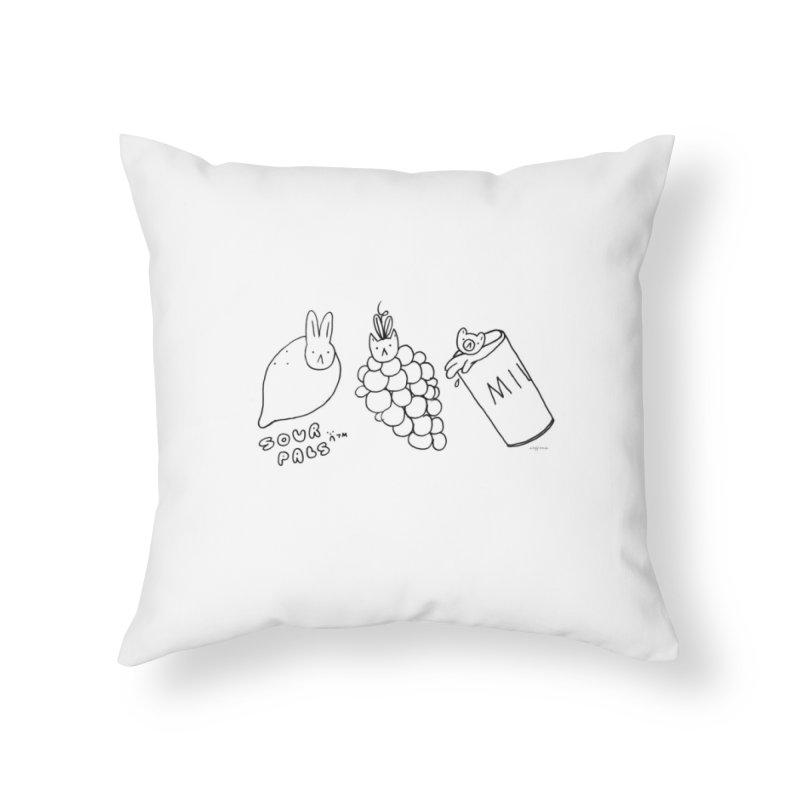 Sour Pals Home Throw Pillow by Steff Bomb's Artist Shop