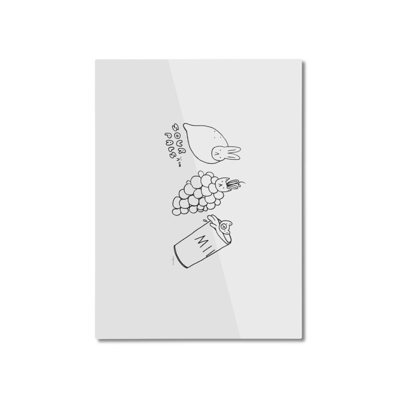 Sour Pals Home Mounted Aluminum Print by Steff Bomb's Artist Shop