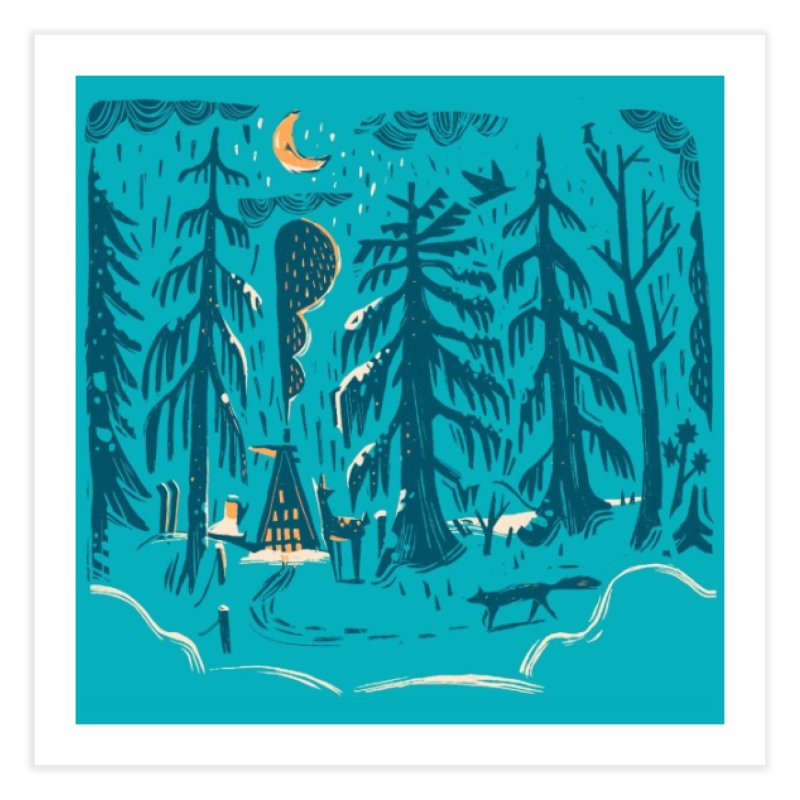 Colorado Cabin Home Fine Art Print by Stef Stuff Artist Shop